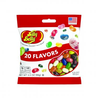 Jelly Belly® 20 Flavors Asst Mix 3.5oz Grab & Go Bags