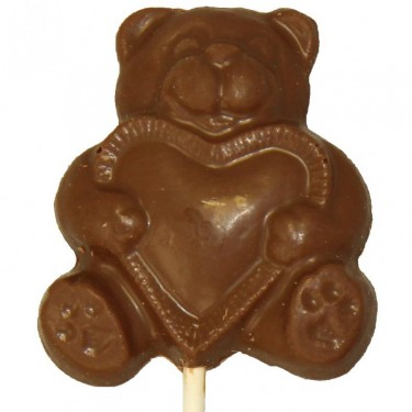 Milk Chocolate Teddy Bear 1oz Sucker