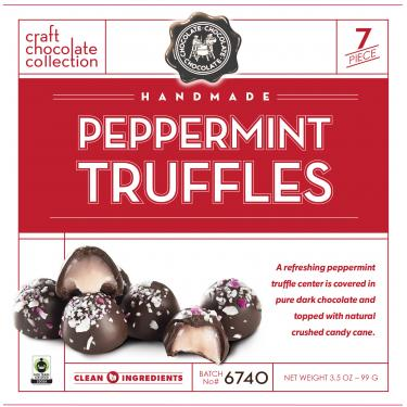 Peppermint Truffles Gift Box, 3.5oz