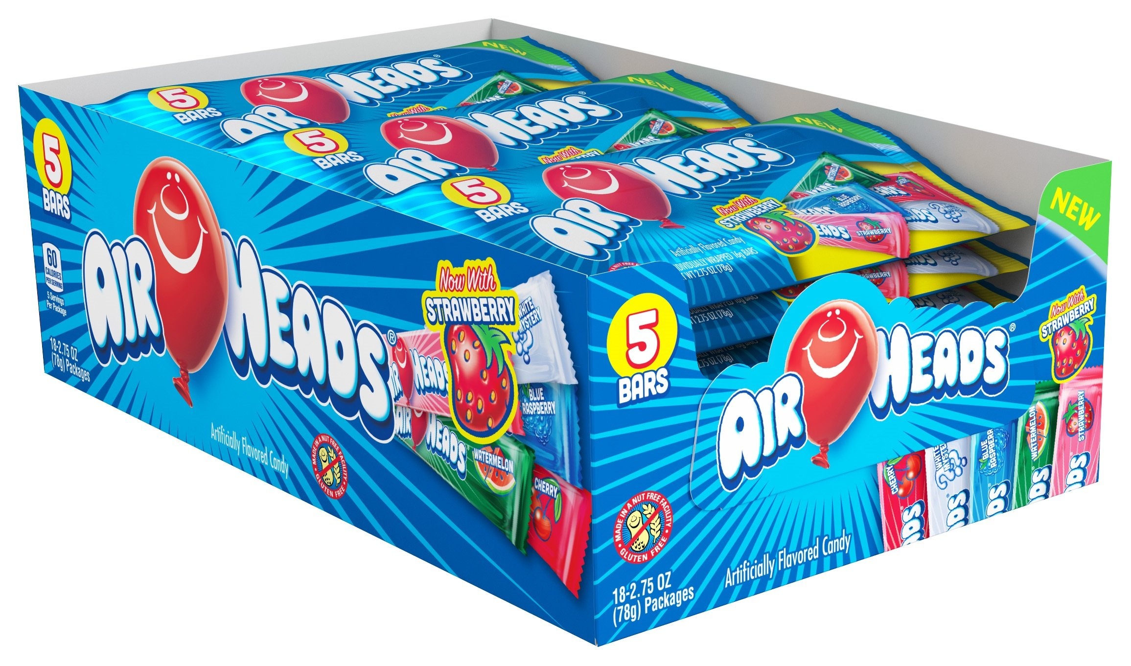 Airheads 174 Bar 5 Pack All Distributed Items