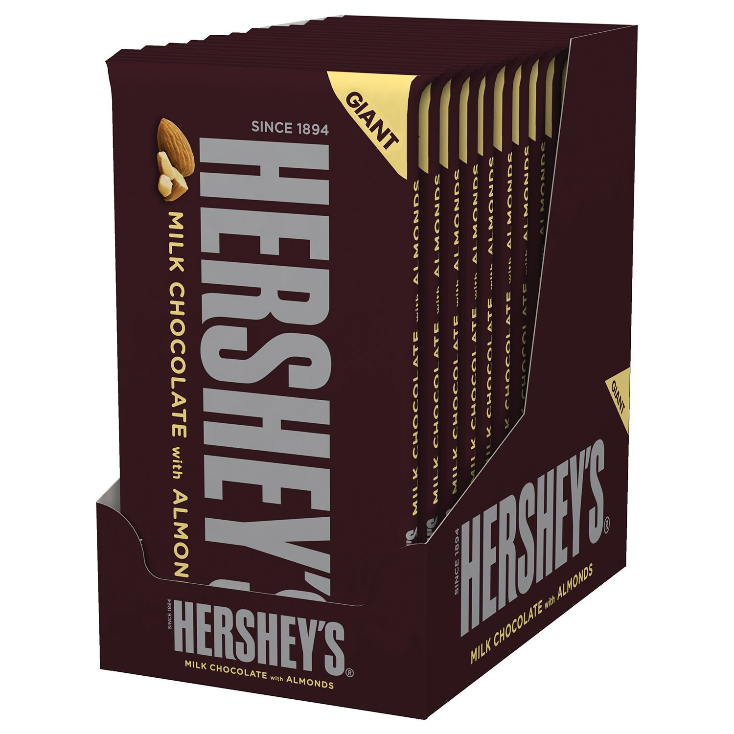 giant hersheys174 bar milk chocolate with almonds all