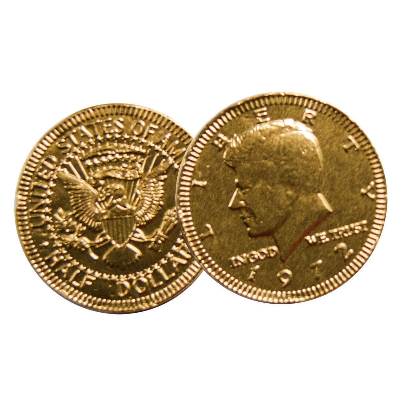 Milk Chocolate Coins Gold Foil Wrapped Washington Quarter ...