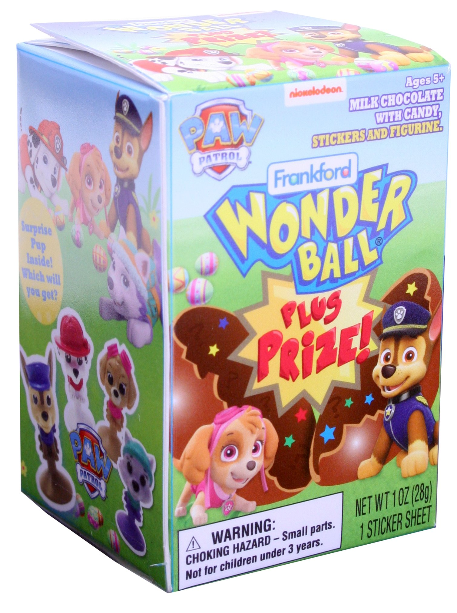 Paw Patrol Wonder Ball With Toys Candy Store Albanese