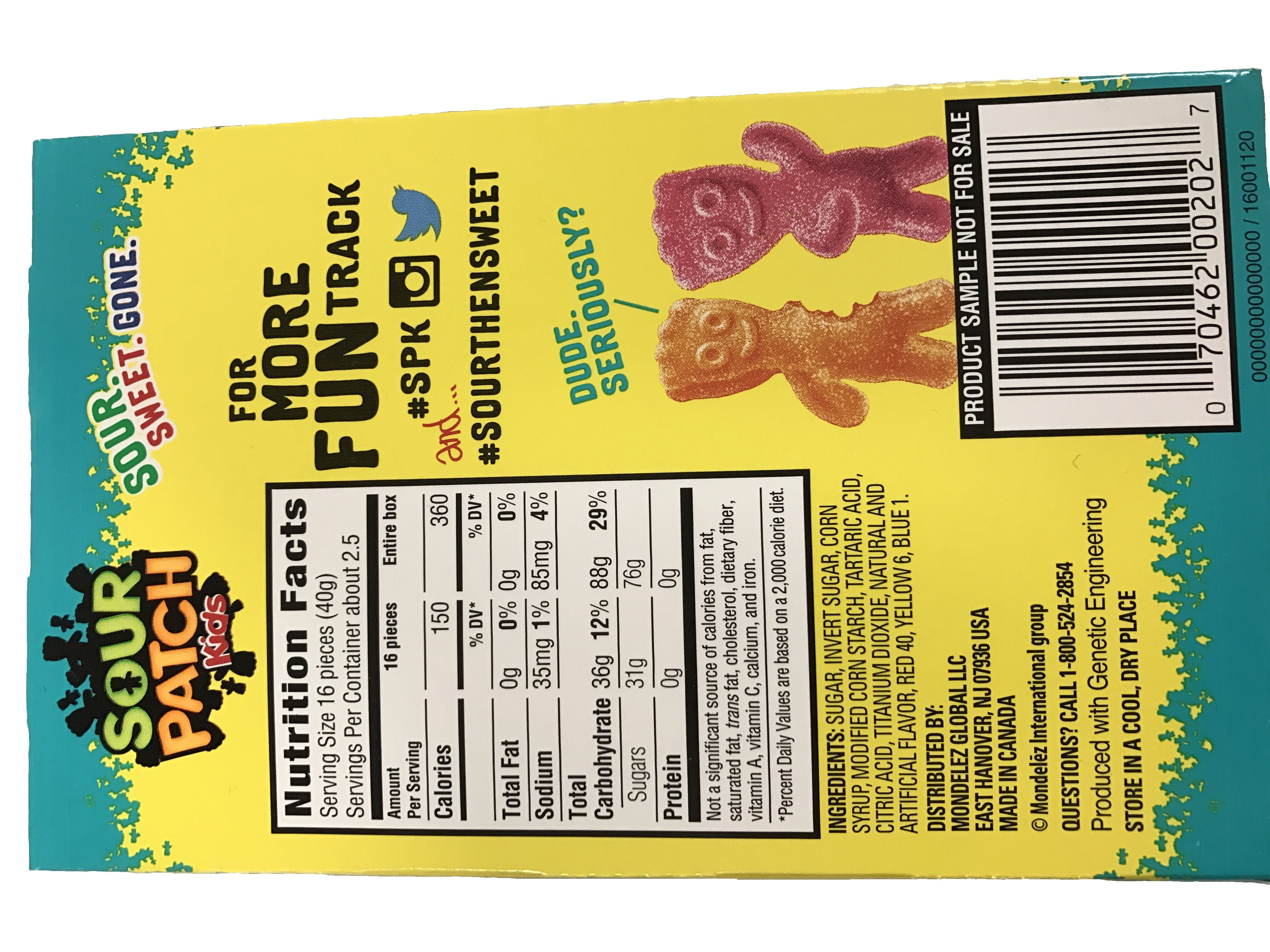 Sour Patch Kids Tropical Theater Box 3 5oz All