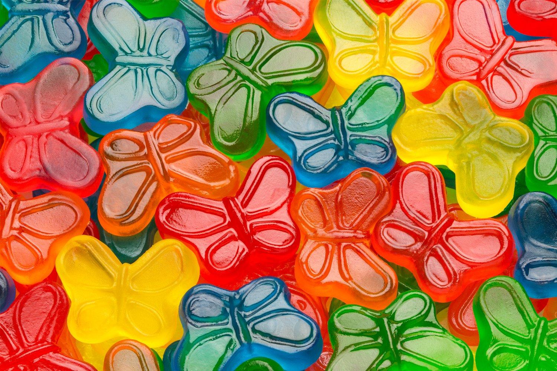 Sugar Free Mini Gummi Butterflies Candy Store Albanese