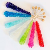 Assorted Rock Candy on a Stick (Large, Unwrapped)