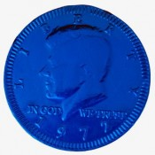 Fort Knox® Blue Foiled Milk Chocolate Coins 1.5