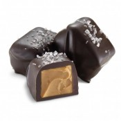 Dark Chocolate Peanut Butter Meltaway with Sea Salt