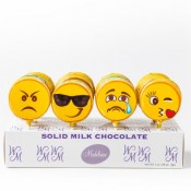 Emoticon Milk Chocolate Pop, 1oz