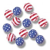 Foiled Milk Chocolate Stars & Stripes Balls