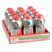 Gumball Machine Toy Bank with 1.4oz Gum