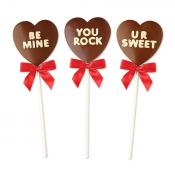 Milk Chocolate Conversation Heart Pops, 3oz