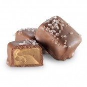 Milk Chocolate Peanut Butter Meltaway with Sea Salt