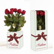 Milk Chocolate Red Foil Roses