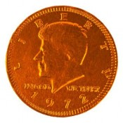 Fort Knox® Orange Foiled Milk Chocolate Coins 1.5