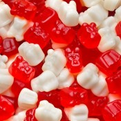 Red & White Peppermint Polar Gummi Bear Cubs