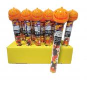 Pumpkin Tubes with Candy Corn