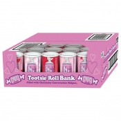 Valentine Tootsie Roll Bank 4oz