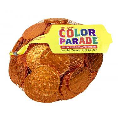 *Special Order* Fort Knox® Orange Foiled Milk Chocolate Coins 1.5